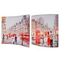 Картина Улицы Лондона 38X38 см (пара) - Top Art Studio