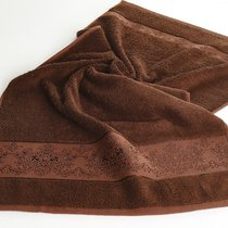 Полотенце бамбуковое Karna Pandora-3, цвет шоколадный, 50x90 - Bilge Tekstil
