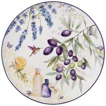 Набор Тарелок Обеденных Прованс Оливки 2Пр.25,5см, цвет фиолетовый, 25 см - Meizhou Yuesenyuan