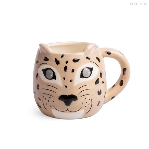 Кружка Leopard 500мл, цвет бежевый - Balvi