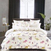 Постельное белье Karna Delux Talen, подростковое, цвет фиолетовый, 1.5-спальный - Karna (Bilge Tekstil)