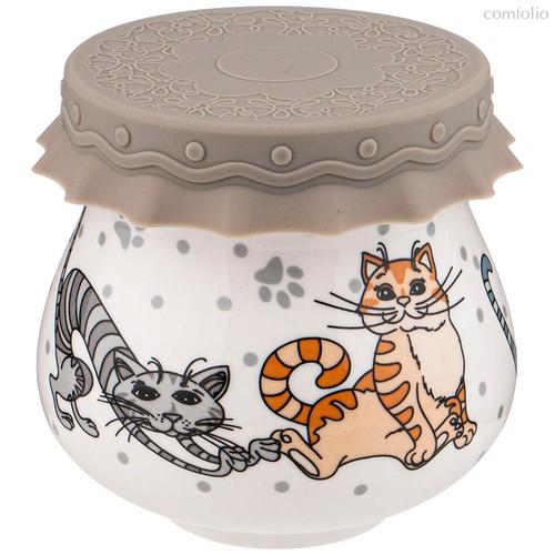 Баночка с Силиконовой Крышкой Озорные Коты 300М л - Shunxiang Porcelain