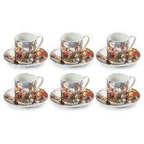 """Набор кофейных чашек с блюдцами """"Сюрприз.Новогодняя ночь"""",на 6 персон, п/к - Lamart"""