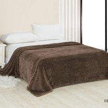 """Плед Cleo """"PINOLI"""" велсофт евро 200*220 200/011-PN, цвет коричневый, 200 x 220 - Cleo"""
