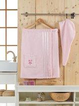 Сауна махра женская JUANNA 2 предмета SEVAKIN, цвет светло-розовый - Meteor Textile
