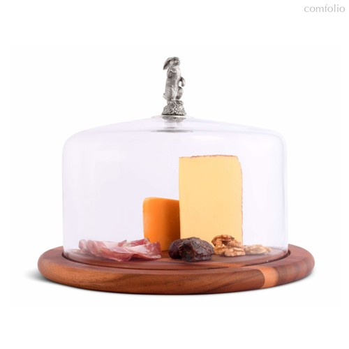 Доска для сыра с крышкой Vagabond House Садовые друзья. Зайцы 33см. дерево - Vagabond House