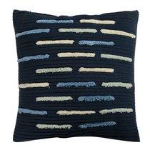 Подушка декоративная с бахромой и эффектом плиссе из коллекции Ethnic, 45х45 см - Tkano
