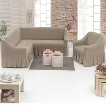 Чехол д/мягкой мебели Угловой 2-х пр.(3+1) кресла 1шт JUANNA, цвет какао - Meteor Textile