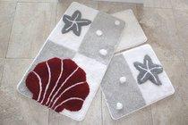 Коврик для ванной DO&CO (60Х100 см/50x60 см) DENIZ YILDIZI, цвет серый - Meteor Textile