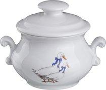 ГОРШОК ДЛЯ ЗАПЕКАНИЯ ГУСИ 750 мл 17x14 см ВЫСОТА 14 см - Cesky Porcelan