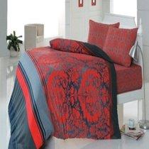 КПБ COTTON LIFE 1,5 сп. (50*70/2 шт.) DAMASK, цвет красный, 1.5-спальный - Meteor Textile