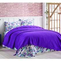КПБ DO&CO Ранфорс 200х220 (50х70/2 шт) LARITA, цвет фиолетовый, 230x240 - Meteor Textile