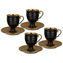 Чайный Набор Lefard На 4 Персоны 8 Пр. 250 мл Черный - Rongshengyuan