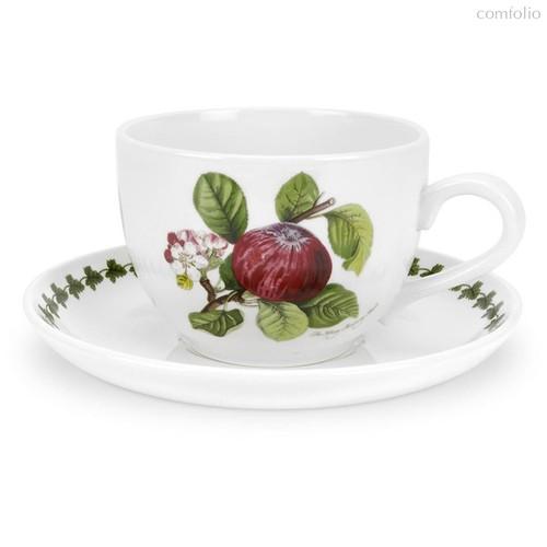 "Чашка для завтрака с блюдцем Portmeirion ""Помона. Красное яблоко"" 500мл - Portmeirion"