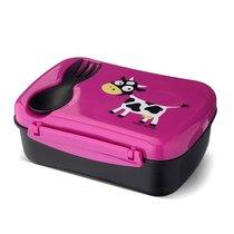 Ланч-бокс детский с охлаждающим элементом N'ice Box™ Cow фиолетовый, цвет фиолетовый - Carl Oscar