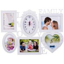 Фоторамка-Коллаж С Часами На 5 Фото 10x15/15x13/18x13 см - Polite Crafts&Gifts