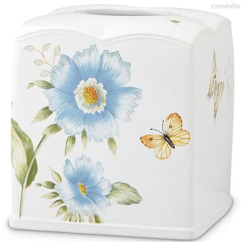 """Подставка для салфеток Lenox """"Бабочки на лугу"""" 16см (голубая) - Lenox"""