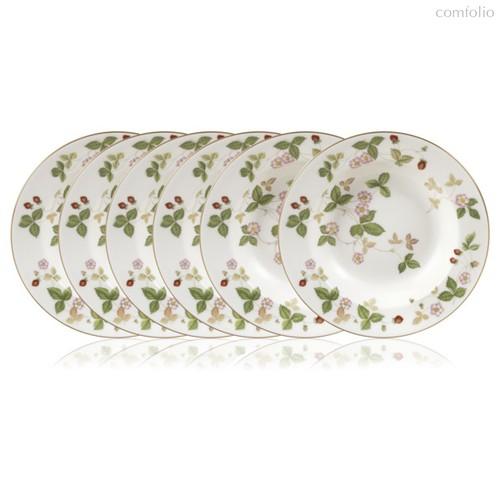 Набор тарелок суповых Wedgwood Земляника 20см, 6 шт, фарфор - Wedgwood