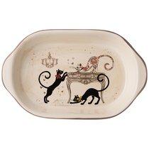 Блюдо-Шубница Парижские Коты 28x17,5x4,5 см - Huachen Ceramics