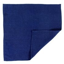Салфетка сервировочная из умягченного льна темно-синего цвета, 45х45 см - Tkano