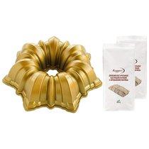 """Набор из формы для выпечки """"Солнце"""" + 2 упаковки дрожжей - Nordic Ware"""