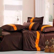 Линия III - комплект постельного белья, цвет шоколадный, размер 1.5-спальный - Valtery
