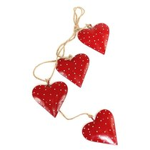 Гирлянда подвесная Red Hearts, 4 шт. - EnjoyMe