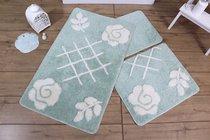 Коврик для ванной DO&CO (60Х100 см/50x60 см) PASTEL, цвет мятный - Meteor Textile