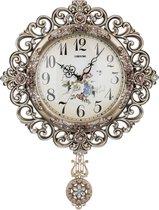 Часы Настенные Кварцевые С Маятником 41, 5X7X54 см Диаметр Циферблата 22 см - Shantou Lisheng