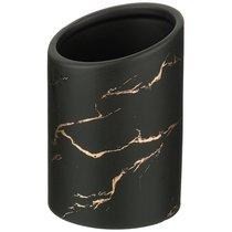 Подставка Для Столовых Приборов Коллекция Золотой Мрамор Цвет: Black 10,8x16 см - Porcelain Manufacturing Factory