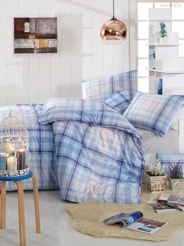 Постельное белье Ranforce Aliz, цвет ментоловый, размер Евро - Altinbasak Tekstil