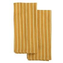 Набор кухонных полотенец цвета шафрана из хлопка из коллекции Essential, 50х70 см - Tkano