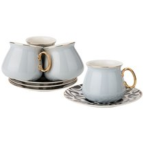 Чайный Набор На 4Пер. 8 пр. 220 мл , Светло-Серый, цвет светло-серый - Rongshengyuan