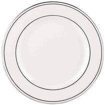 """Тарелка закусочная Lenox """"Федеральный,платиновый кант"""" 20,5см, цвет белый/серебряный, 20 см - Lenox"""