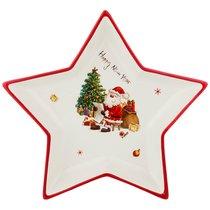 Блюдо С Новым Годом! 25x25x3,5 см - Huachen Ceramics