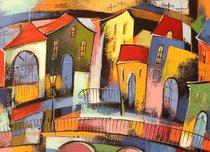Подставки на пробке Сказочный город 40х29 см(4шт) - Top Art Studio