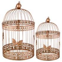 Набор Клеток Для Птиц Декоративных Из 2-Х Шт.L:25x41,S:20x30 см - Baihui Rattan Furniture