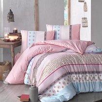 Постельное белье Ranforce Justo, цвет розовый, 1.5-спальный - Altinbasak Tekstil