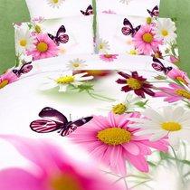Summer meadow - комплект постельного белья, цвет белый, размер Евро - Famille