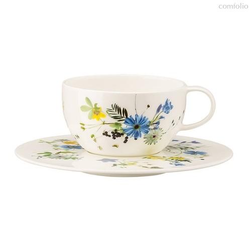 Чашка чайная с блюдцем Rosenthal Альпийские цветы 250мл, фарфор - Rosenthal