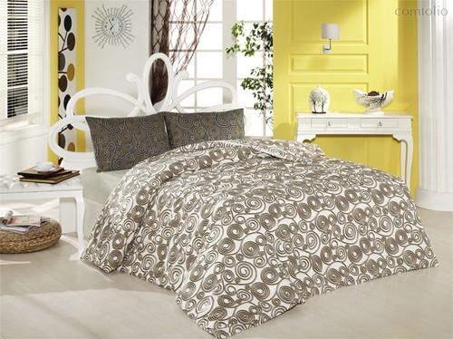 Постельное белье Ranforce Cassandra, цвет кремовый, размер 1.5-спальный - Altinbasak Tekstil