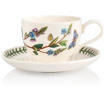 """Чашка для завтрака с блюдцем Portmeirion """"Ботанический сад.Вероника"""" 280мл - Portmeirion"""