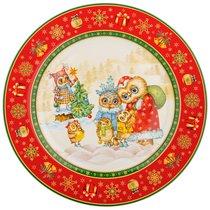 Тарелка Подстановочная Совы, Диаметр 26 см - Jinding
