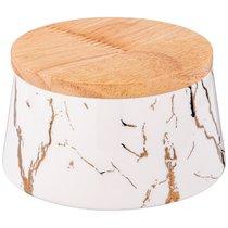 Банка с деревянной крышкой Lefard Fantasy 10,5x6,5 см 300 мл - Towin Ceramics