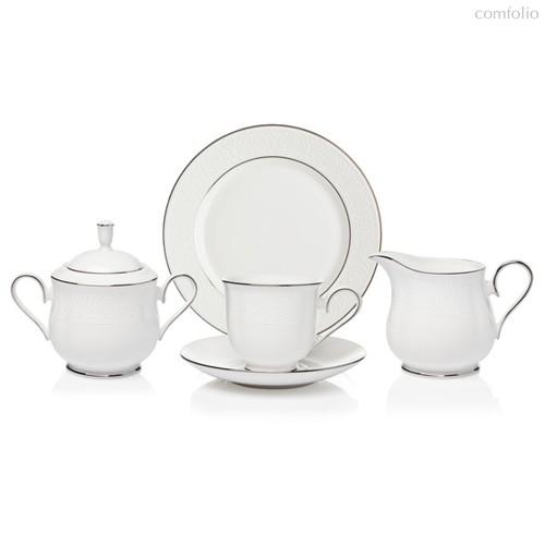Сервиз чайный Lenox Ханна,платиновый кант на 6 персон 20 предметов, фарфор - Lenox
