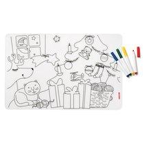Набор из коврика-раскраски и 4 маркеров Bimbi рождество - Guzzini