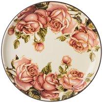 Тарелка Подстановочная Корейская Роза 26x26 см Высота 3 см - Huachen Ceramics