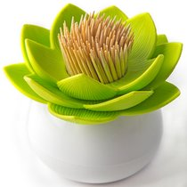 Держатель для зубочисток Lotus белый-зеленый - Qualy