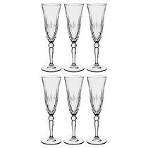 Набор Бокалов Для Шампанского Из 6 шт.Мелодия 150 млВысота 22 см - RCR