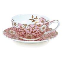 """Чашка чайная с блюдцем Dunoon """"Нуово"""" 250мл (розовая) - Dunoon"""